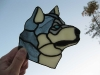 Husky stained glass